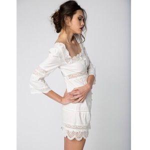 STONE COLD FOX White Austin Dress